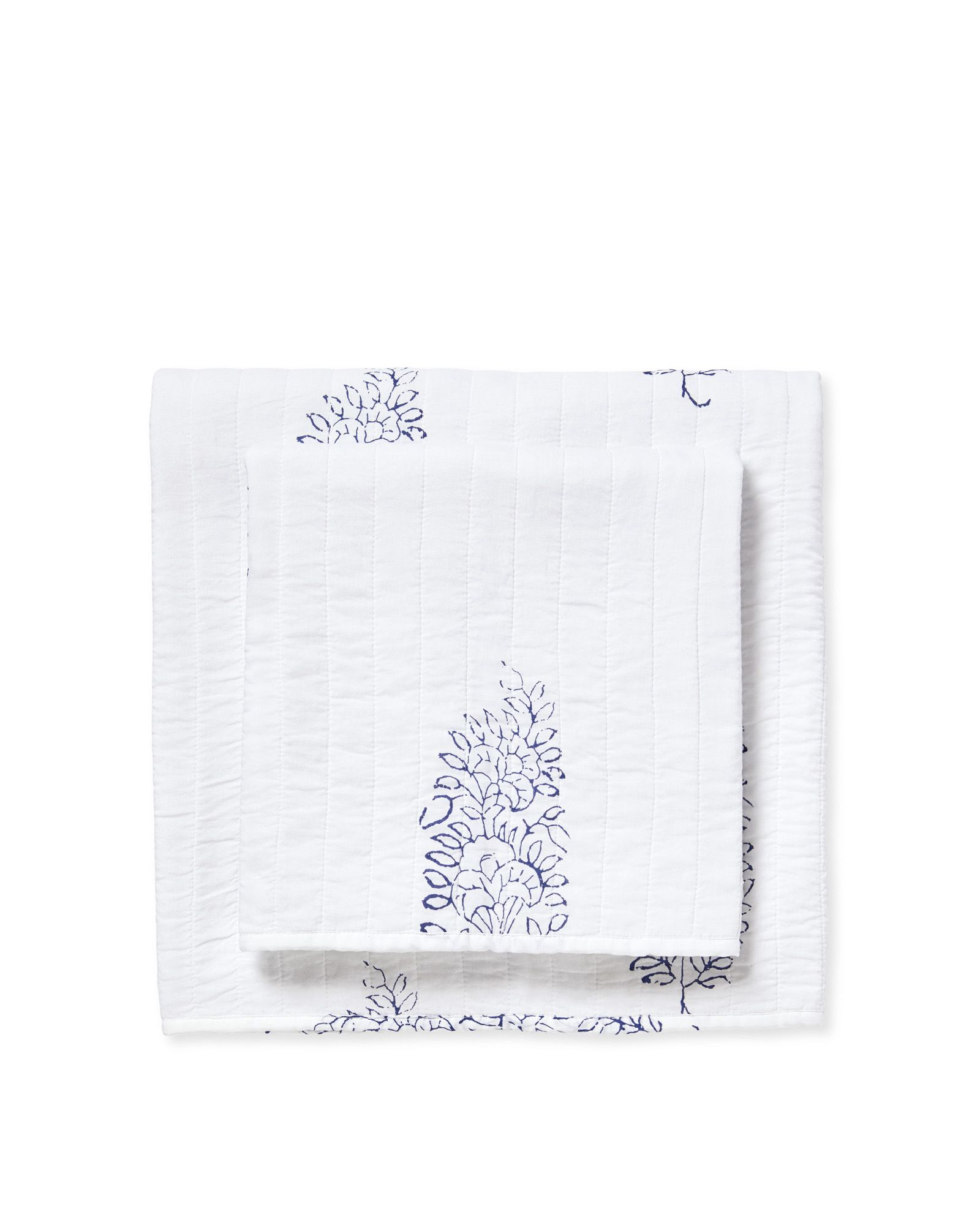 Serena Lily Portofino Bath Collection Quilt Stitching Screen Printing Lily