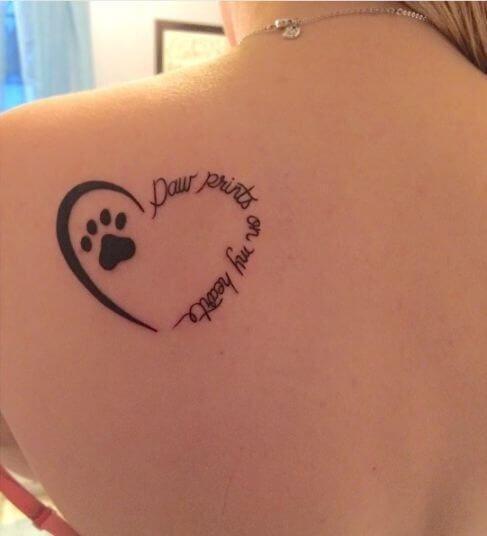 Memorial Tattoo Infinity Paw Print: Courtesy: Mariana Pimentel Dog Tattoo Inspiration