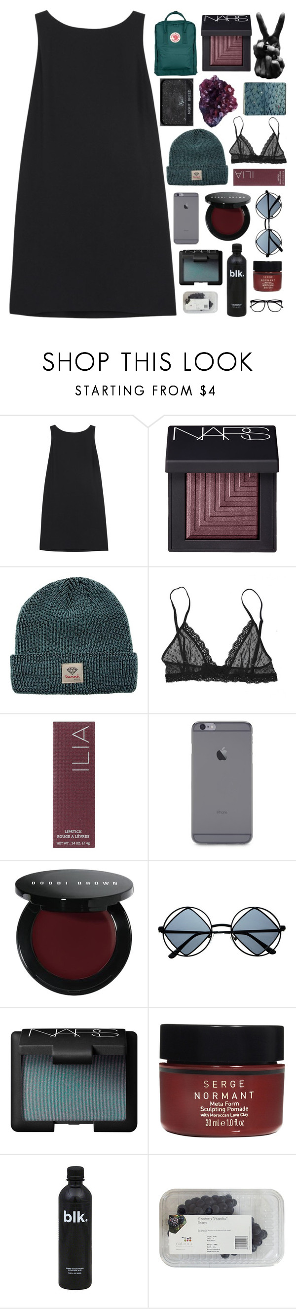"""""""what a dear"""" by tsunami-wxves ❤ liked on Polyvore featuring RED Valentino, NARS Cosmetics, DK, Diamond Supply Co., Eberjey, Ilia, Bobbi Brown Cosmetics, Retrò, Serge Normant and H&M"""