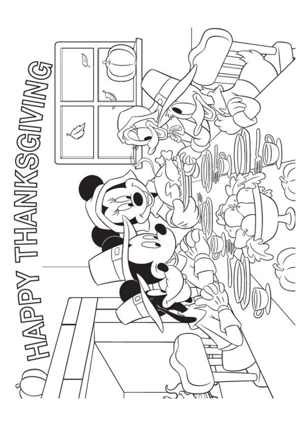 Print Coloring Image Momjunction Thanksgiving Coloring Pages Minnie Mouse Coloring Pages Disney Thanksgiving