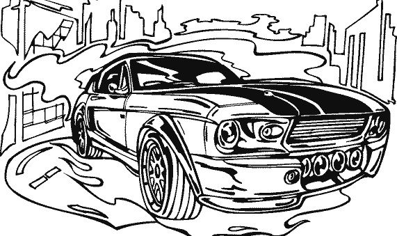 Race Car Classic Coloring Page