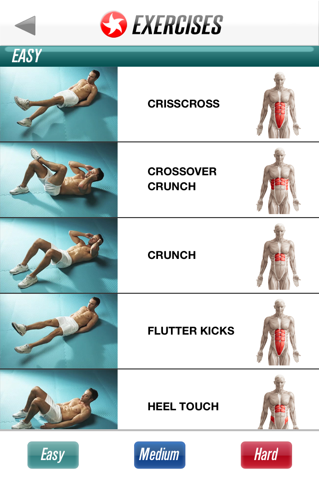 Pictures of abdominal exercises to do at home
