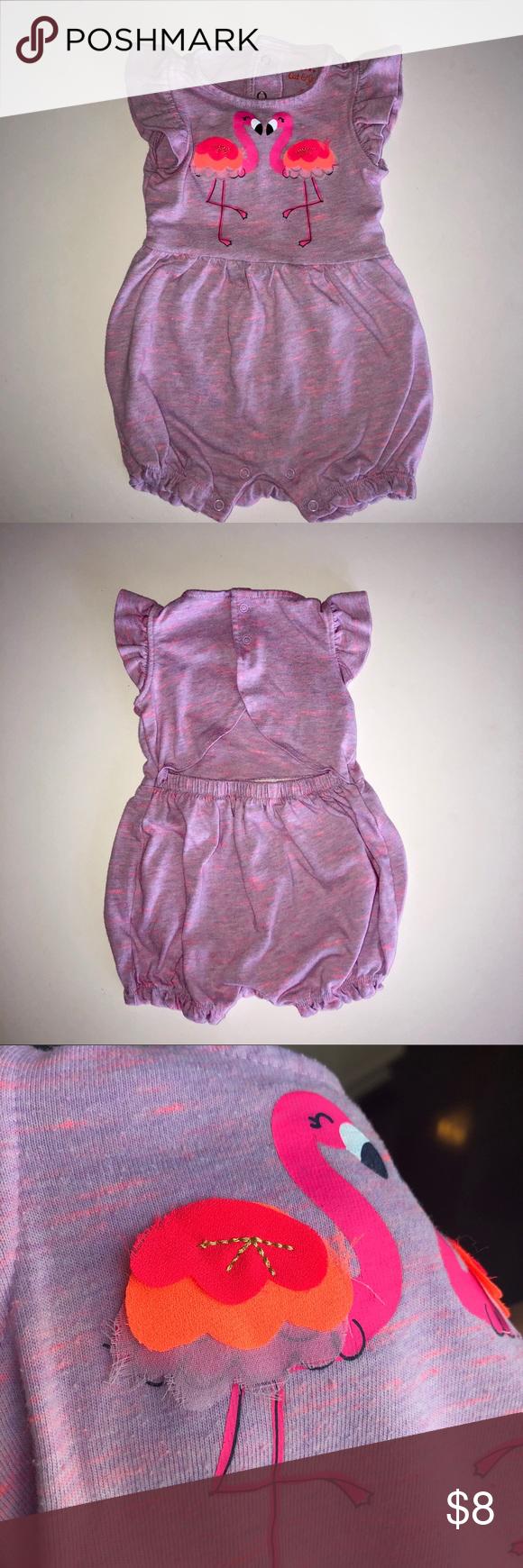 c988752d3e92 Baby Girl flamingo romper Excellent condition Cat   Jack One Pieces  Bodysuits