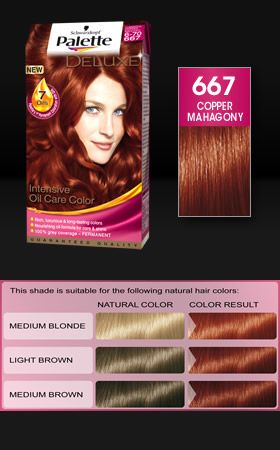 Palette Deluxe 667 Copper Mahagony Hair Hair Cabelo Lindo Cabelo