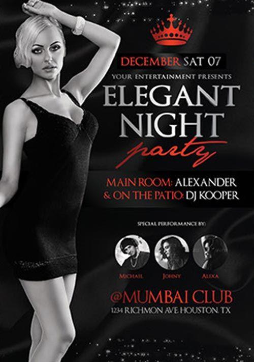 Elegant Night Party Flyer Template - http://ffflyer.com/elegant ...