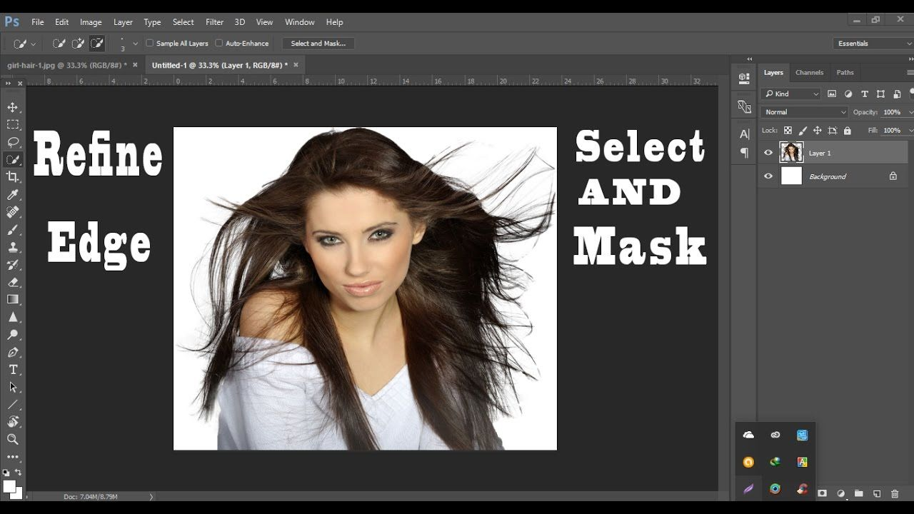 Select And Mask Or Refine Edge cc 2017 2018