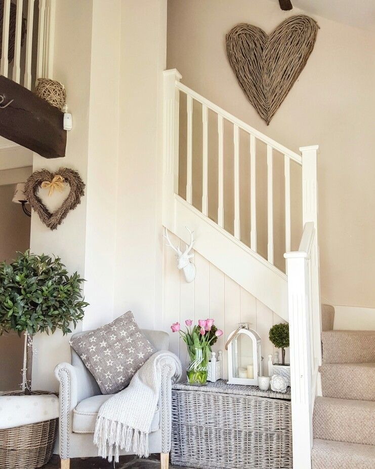 Summer Hallway .... Bright And Welcoming ... Wicker Heart