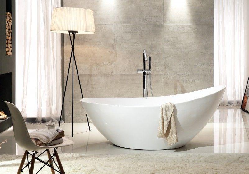 Freistehende Badewanne VICE aus Acryl Weiß - 183,5 x 78,5 x 77 cm