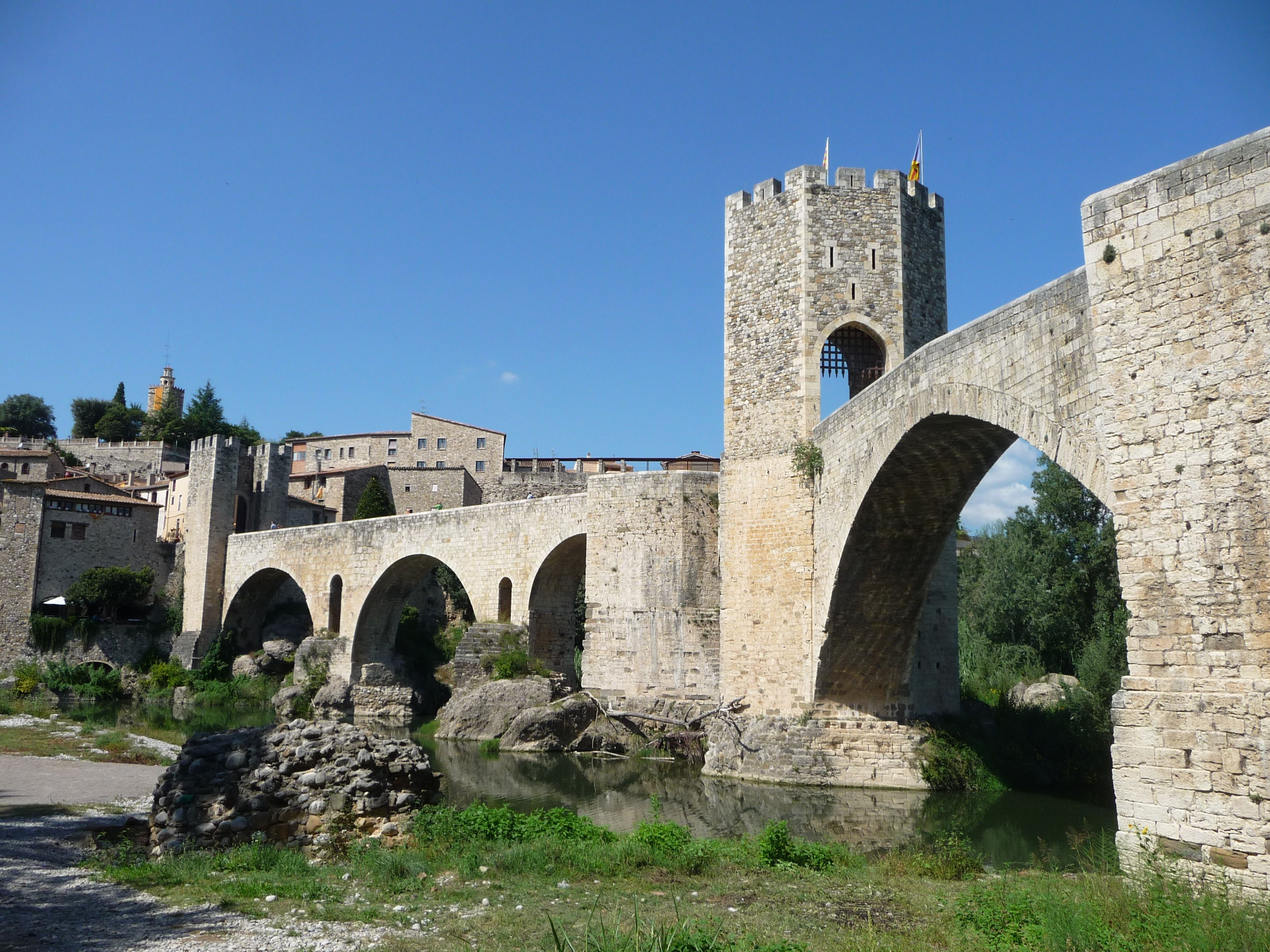 Besalu bridge, North Spain. by B Waddington