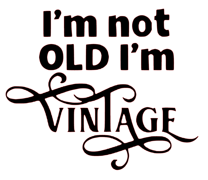 I'm Not Old I'm Vintage Funny Vinyl Decal Sticker