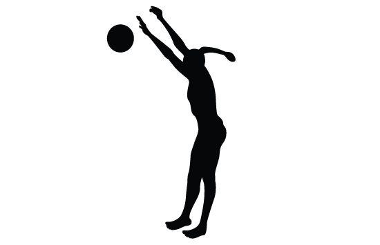 Womens Beach Volleyball Silhouette Vector Spor