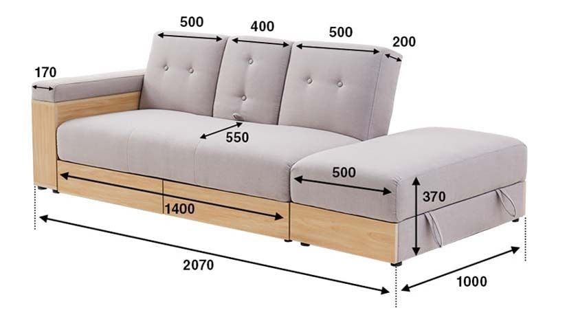 Massimo Multifunction Sofa Bed With Storage Living Room