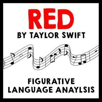 """Students obsessed with Taylor Swift? Review similes and metaphors by analyzing her hit song """"Red.""""  This set of activities includes two differentiated sheets for reading the song (one more advanced has students close read and annotate the figurative language; the less advanced has fill-in-the-blank spots for students to identify the devices) and five additional activity sheets."""