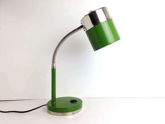 Green Desk Lamp Gooseneck Lamp Vintage Soviet By Rigavintage Lamp Vintage Lamps Desk Lamp
