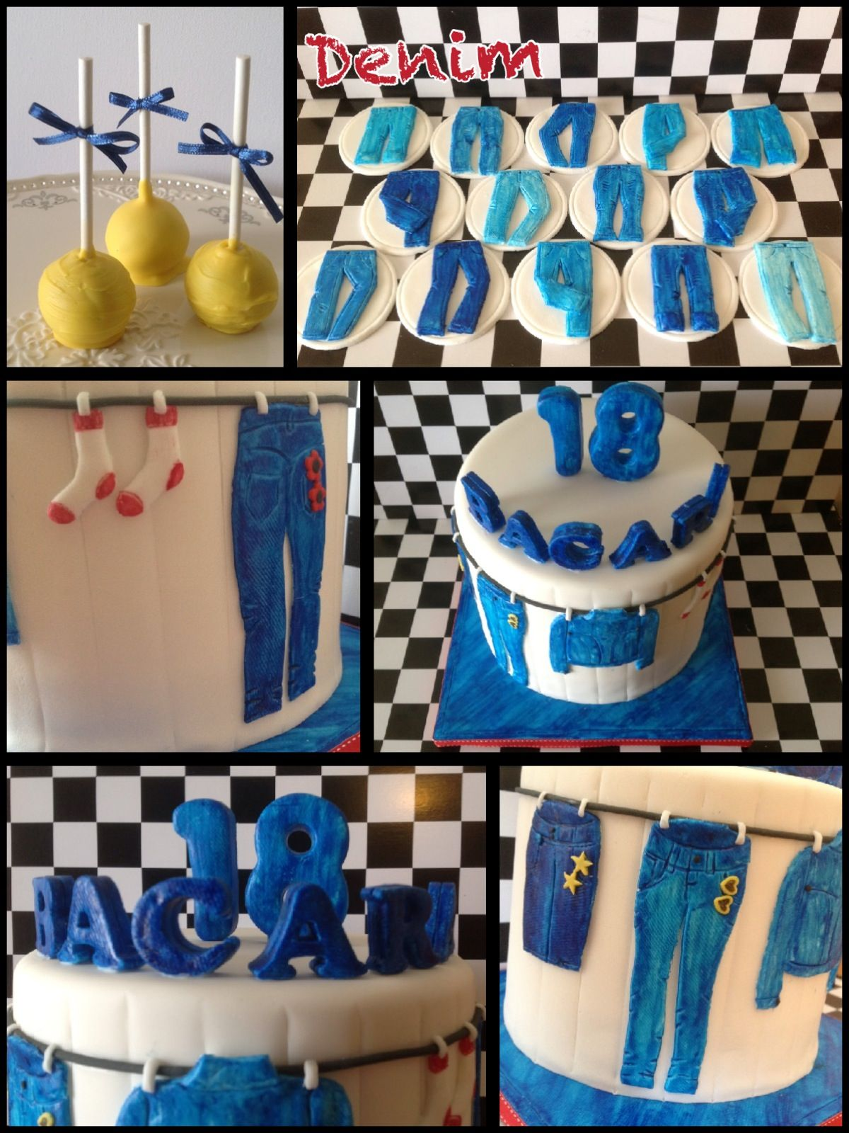 denim cake cake pops cupcakes bake make decorate pinterest cake pop fashion cupcakes. Black Bedroom Furniture Sets. Home Design Ideas