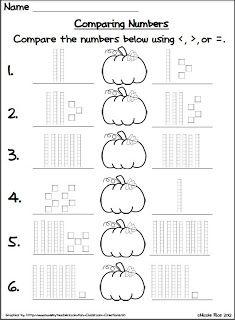 Halloween Comparing Numbers | Actividades de matematicas, Fichas de ...