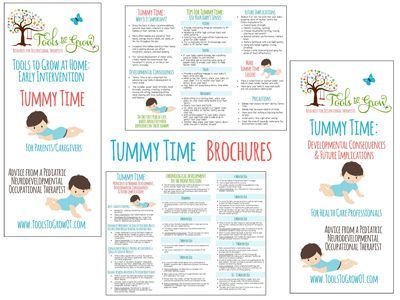 Tummy Time Tummy time, Occupational therapist and Early intervention - healthcare brochure