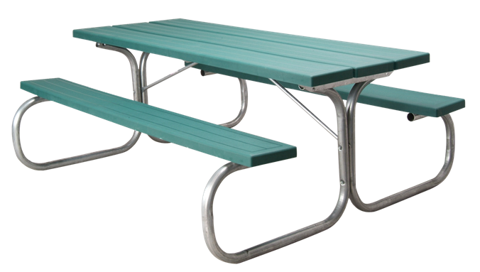 Residential Picnic Table Sturdy Metal And Injection Molded