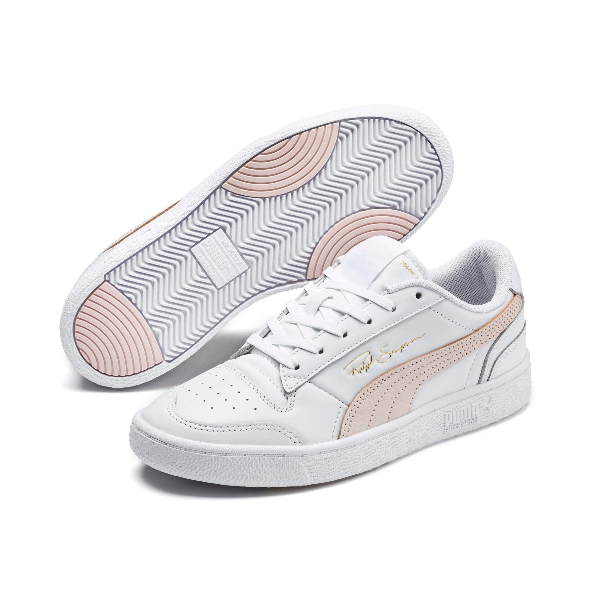 Men's PUMA Ralph Sampson Lo Trainers, White/Rosewater/White, size 5.5, Shoes