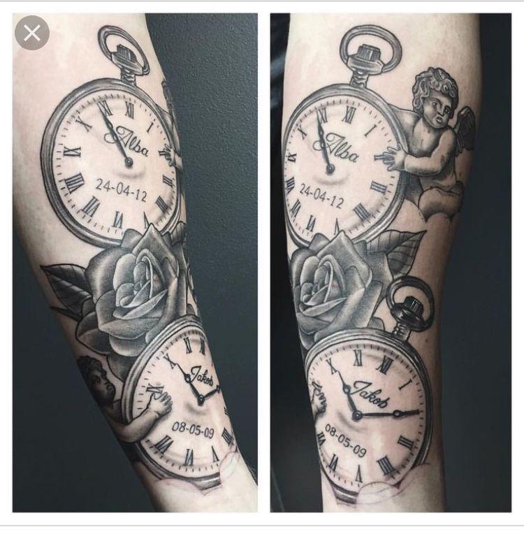 Pin De Avarie Baptiste En Tattoos Tatuajes Chiquitos Tatuajes Retro Tatuaje Reloj De Bolsillo