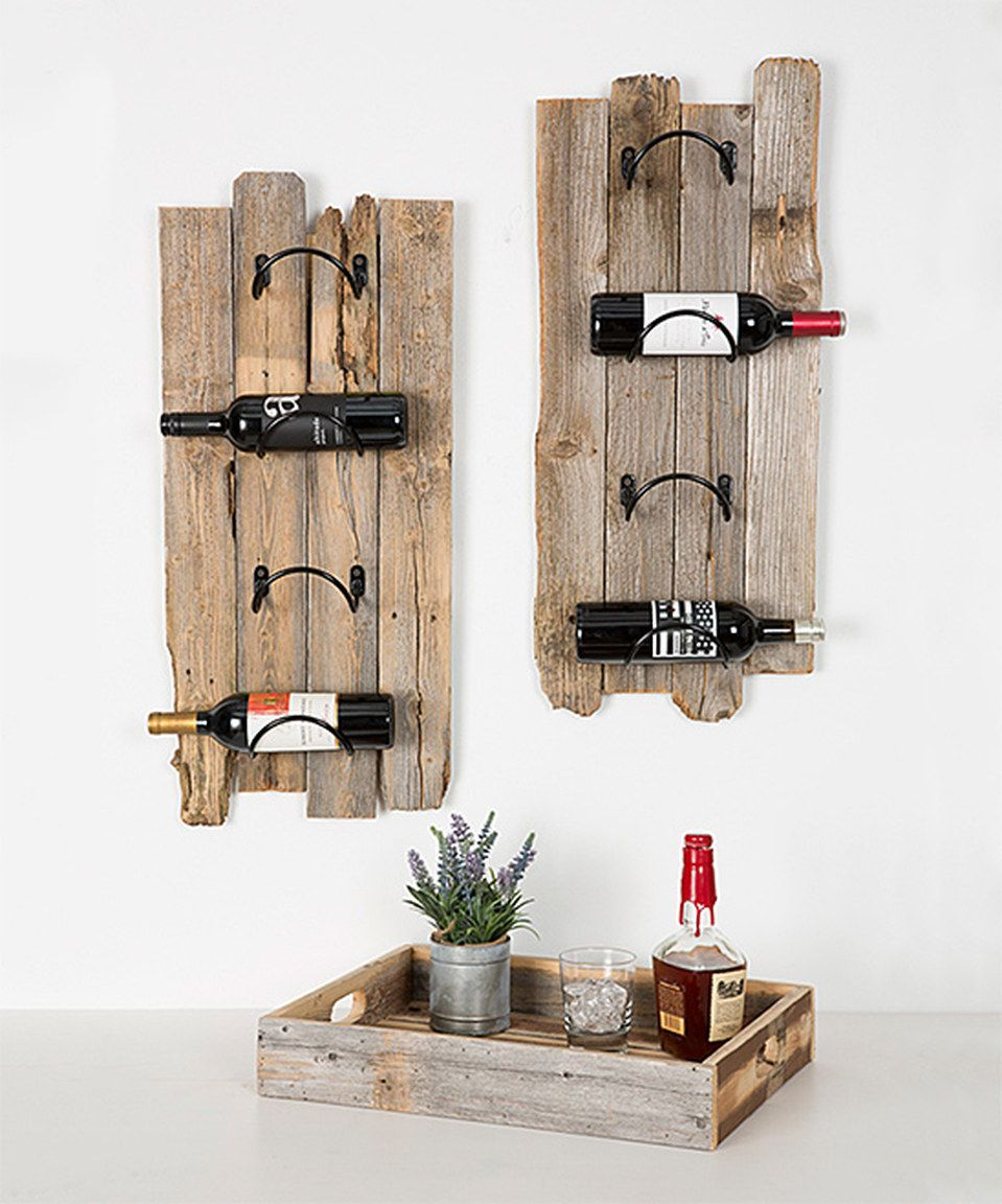 Another Great Find On Zulily Barnwood Wine Rack Set By Delhutson