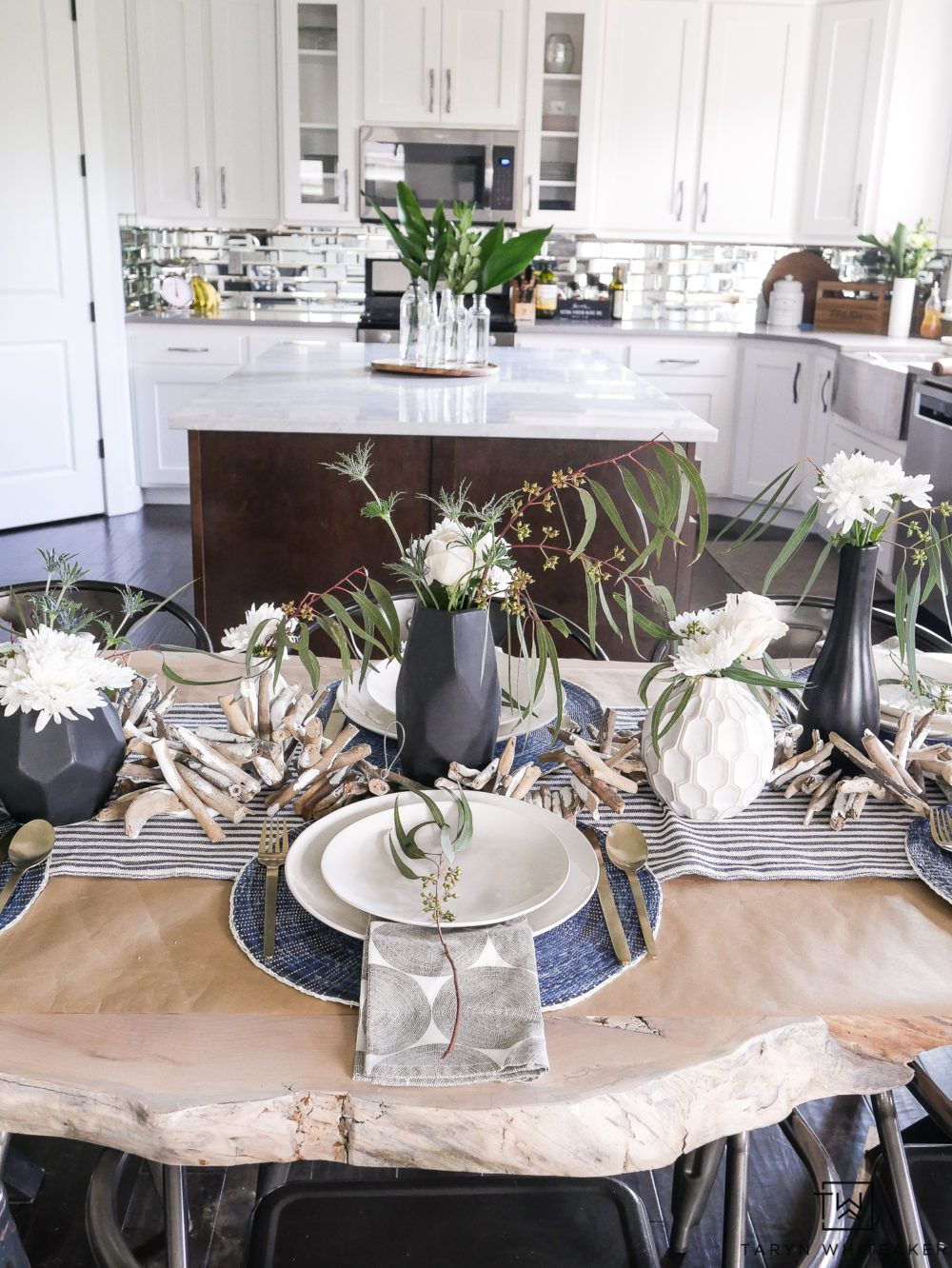Modern Coastal Table Decor