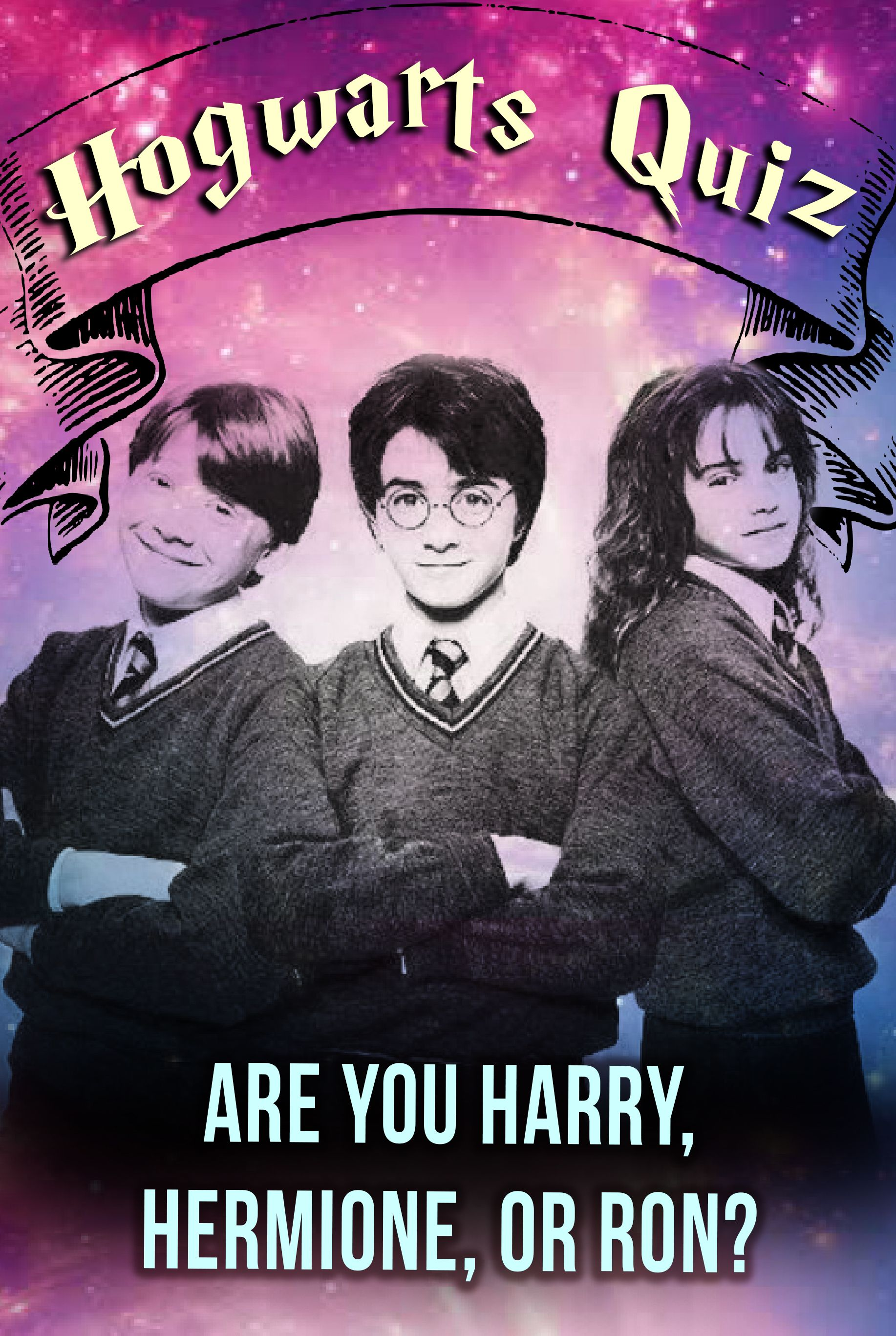 Hogwarts Quiz Are You Harry Hermione Or Ron Hogwarts Quiz Harry Potter Quiz Harry Potter Online
