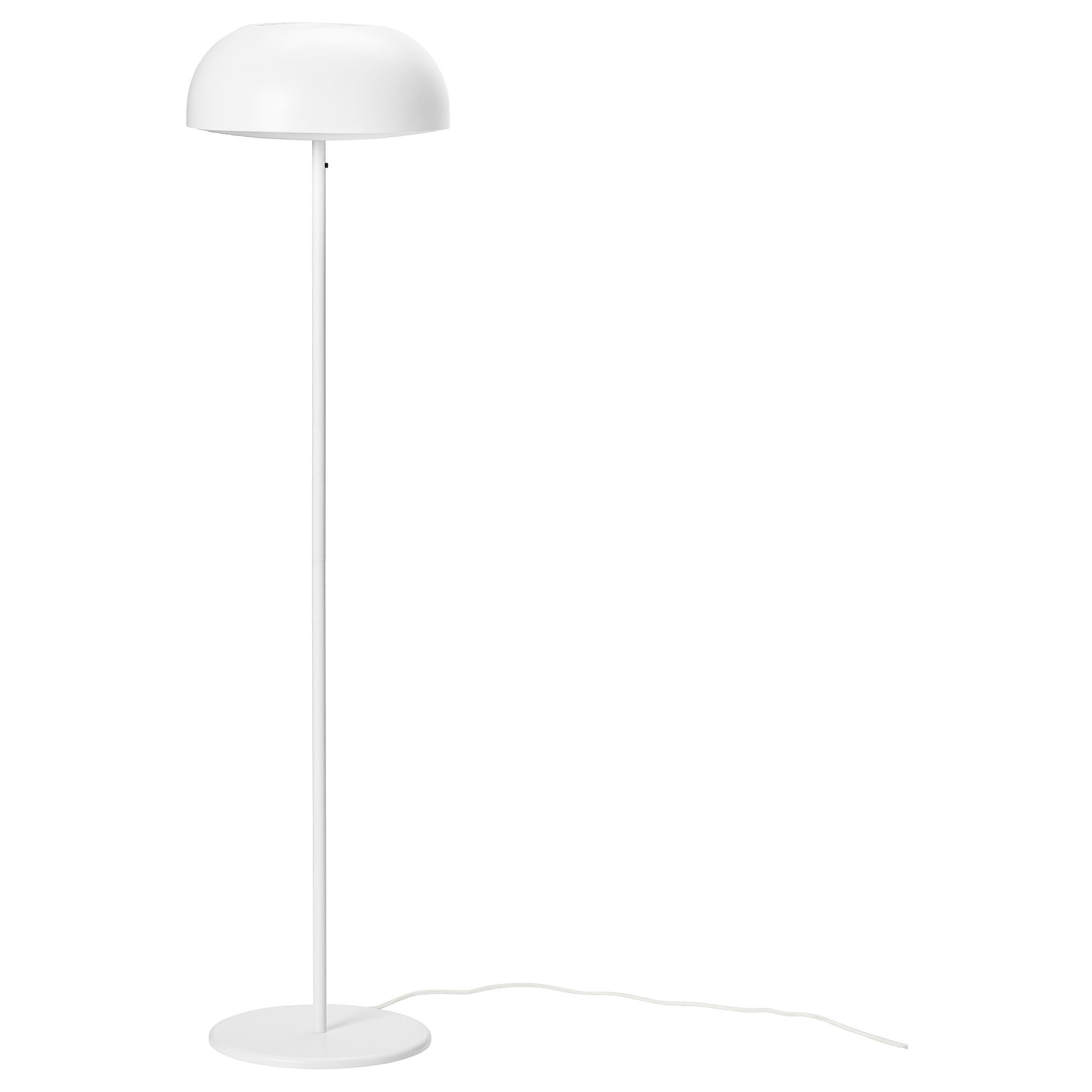 Ikea Nymane White Floor Lamp With Led Bulb Ikea Floor Lamp