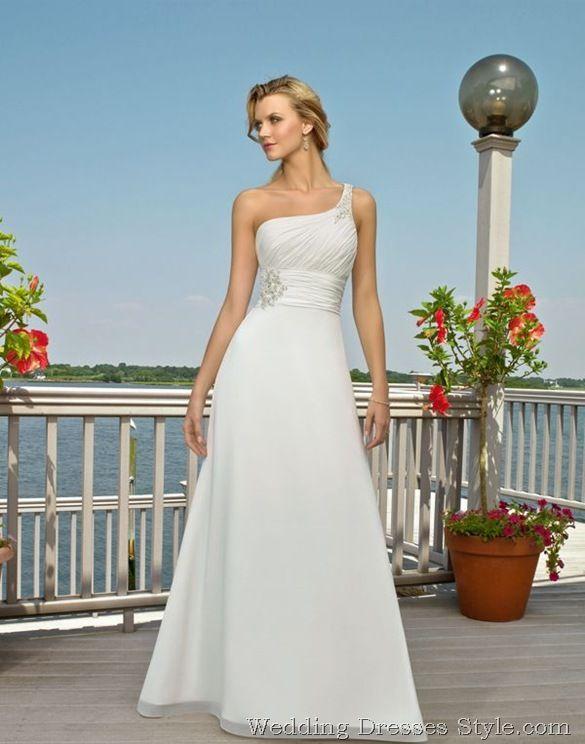 I love the one strap wedding dresses <3 | Wedding Ideas | Pinterest ...
