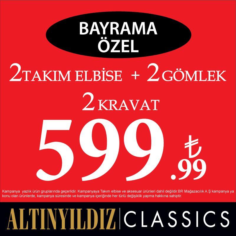 523c2ed51afd2 Bayrama Özel 2 Takım Elbise + 2 Gömlek + 2 Kravat 599.99 TL Altınyıldız  Classics # ANKAmall 1. Katta.
