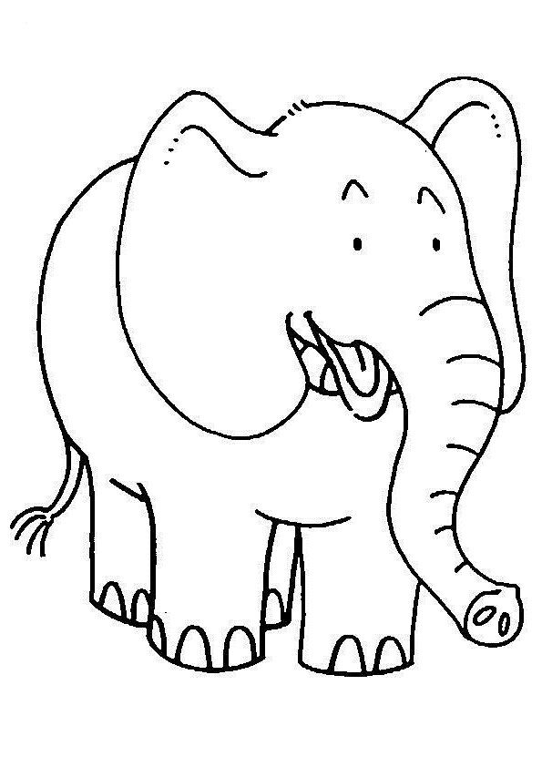Smiling Elephants Coloring Pages For Kids C3x Printable Elephants Coloring Pages For Kids Elephant Coloring Page Animal Coloring Pages Coloring Pages