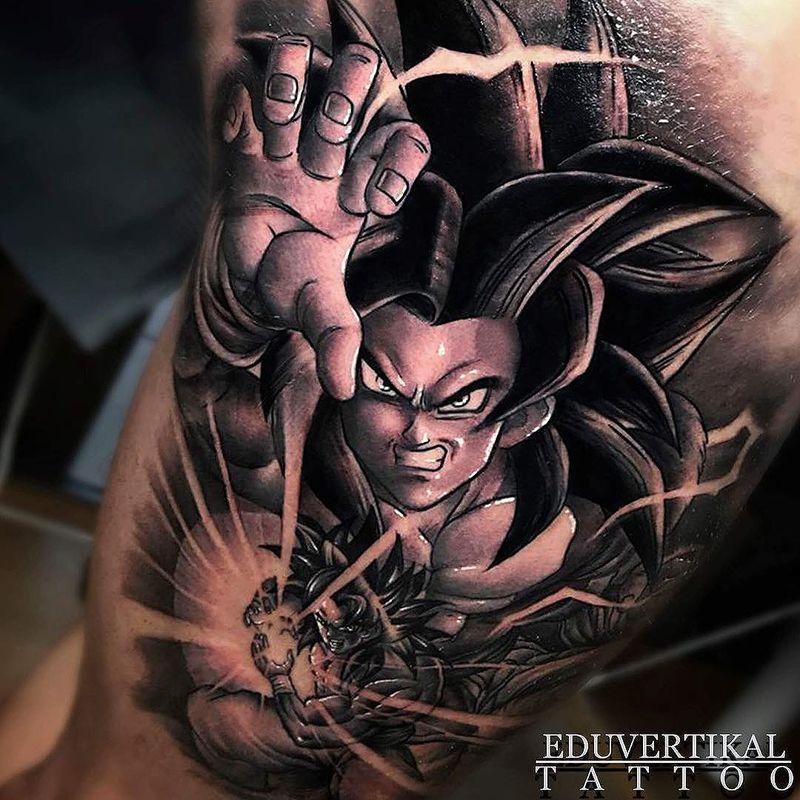 Goku Tattoo Gokutattoo Gokutattooidea Dragon Ball Tattoo Dbz Tattoo Arm Band Tattoo