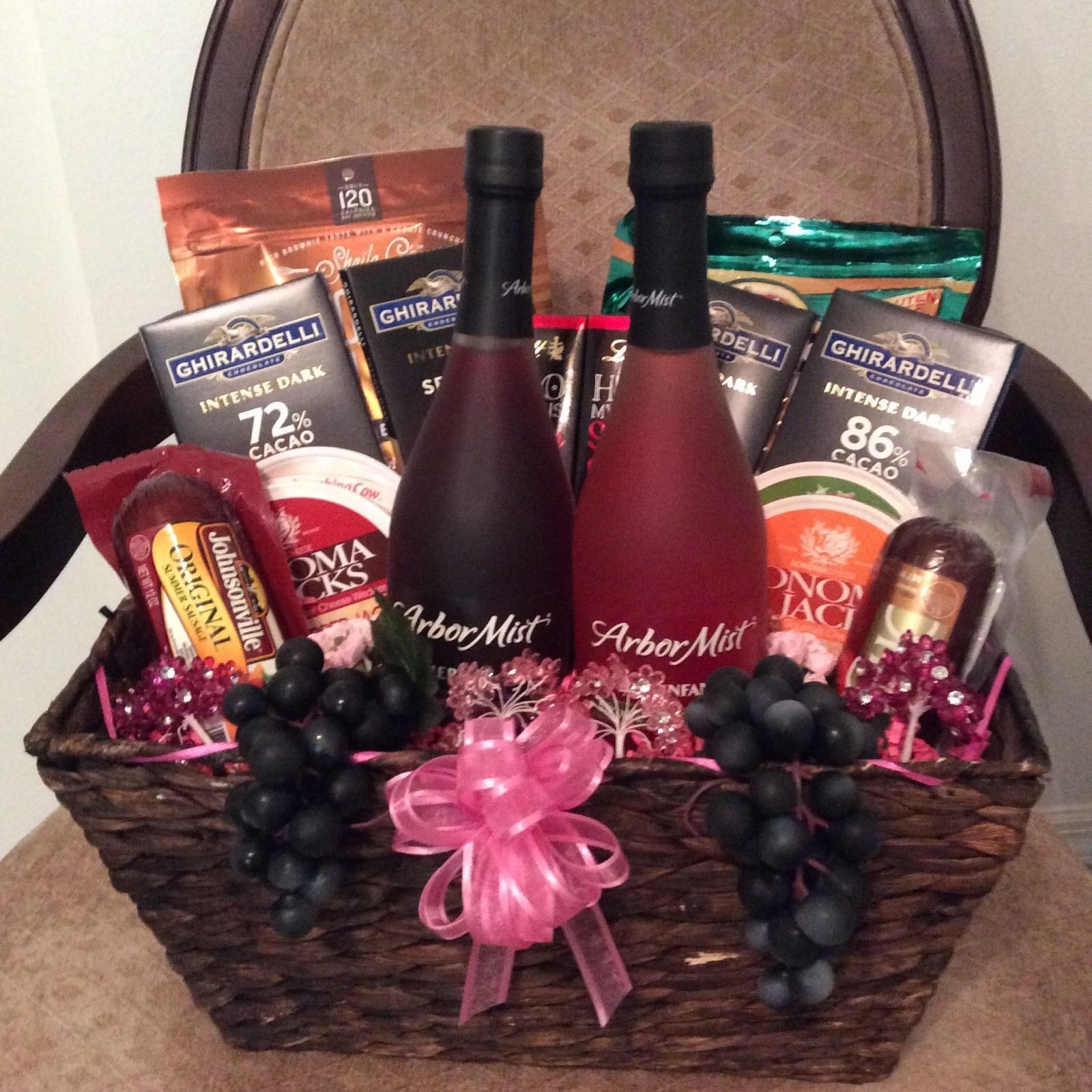 Wine Cheese And Chocolate Gift Basket Ebay Chocolate Gifts Basket Raffle Baskets Christmas Gift Baskets
