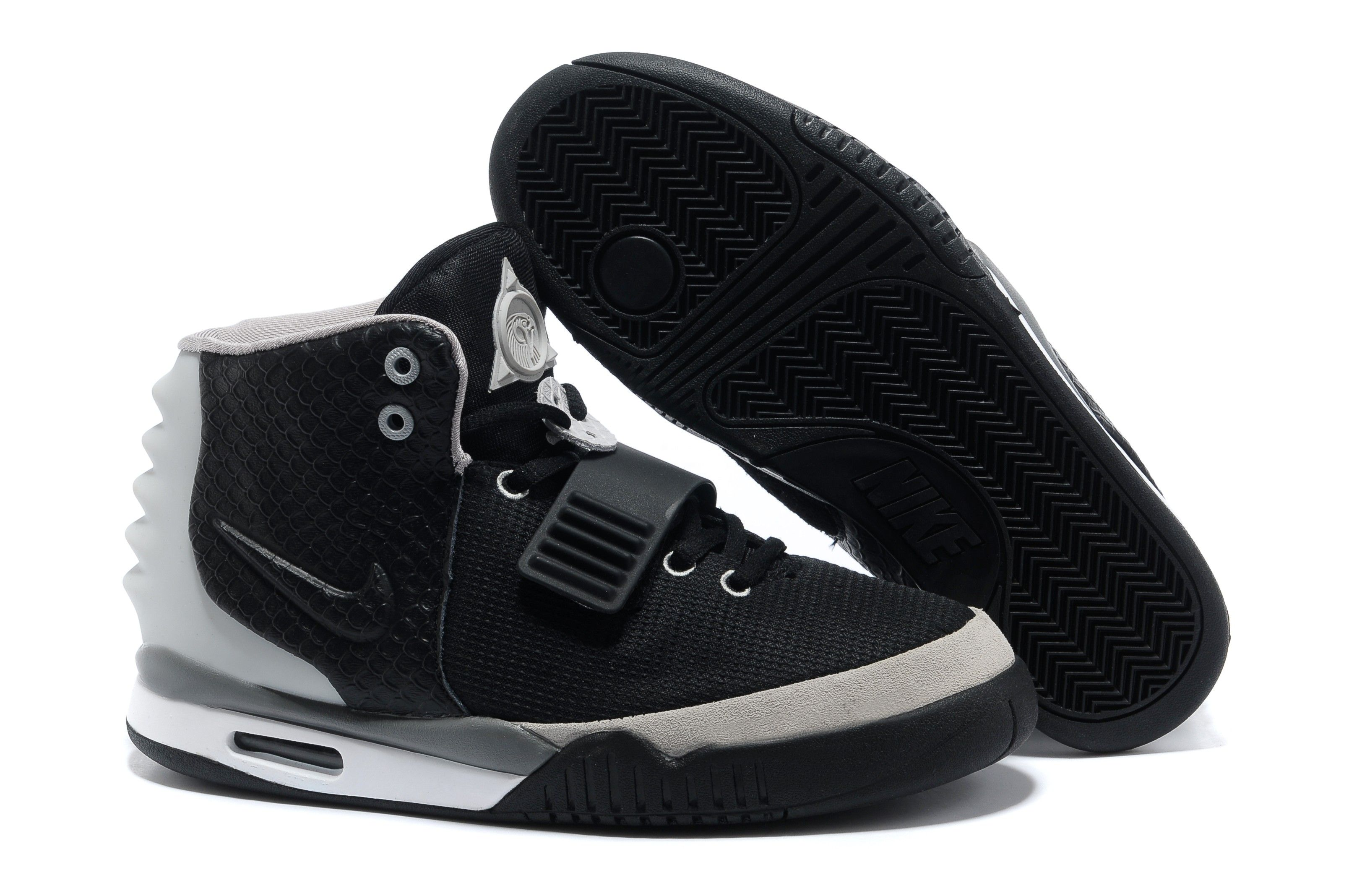 newest 87878 8867b ... promo code for nike air yeezy 2 black silver mens basketball shoes  wholesale nike shoes regular