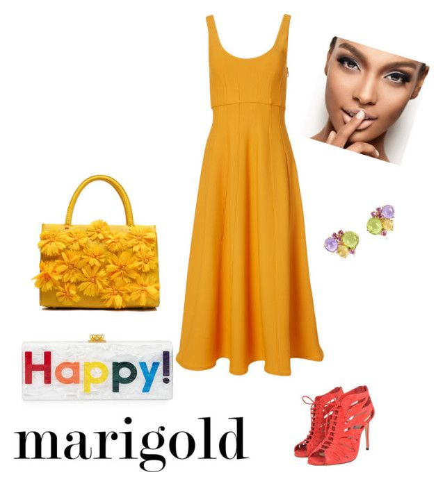 """""""marygold"""" by ilze-s on Polyvore featuring TIBI, Edie Parker, Jimmy Choo and Mia & Beverly"""