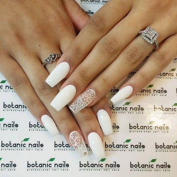 60 white nail art designs white nail art coffin nails and white 60 white nail art designs prinsesfo Images