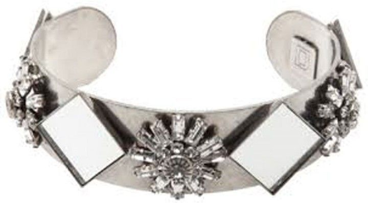 Dannijo Futuristic Mirrored Venice Cuff Bracelet  At Truefacet