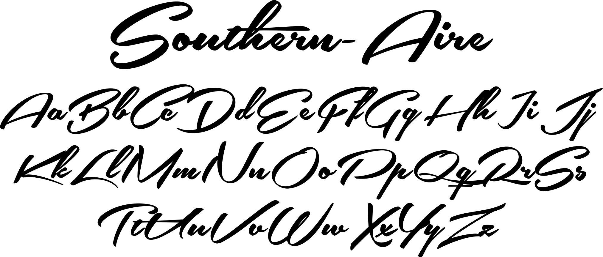 Southern Aire Font A Gorgeous Connecting Script That Evokes An Elegant Retro Feel