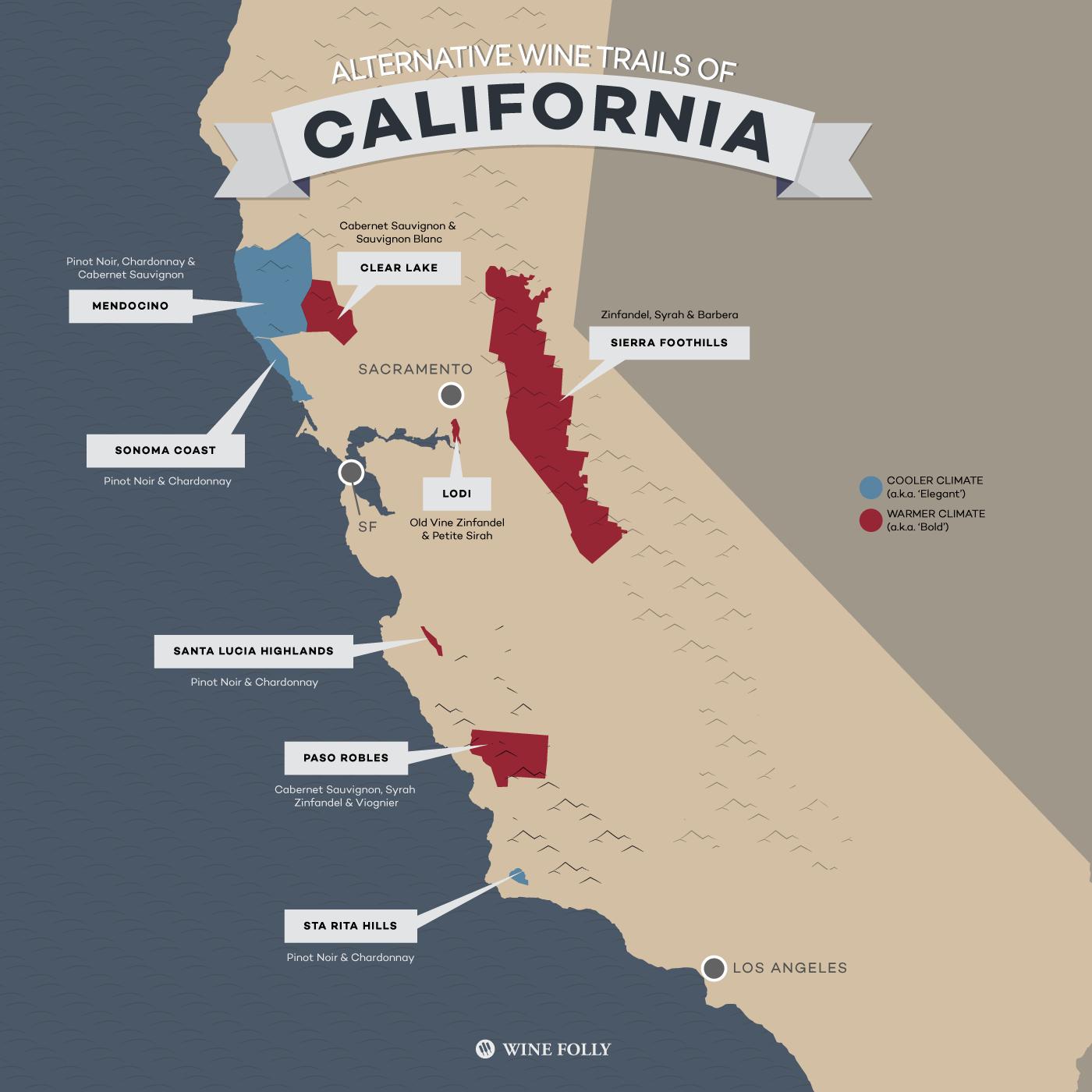 santa lucia highlands map 8 Alternative Wine Trails Of California Wine Folly Santa Lucia santa lucia highlands map