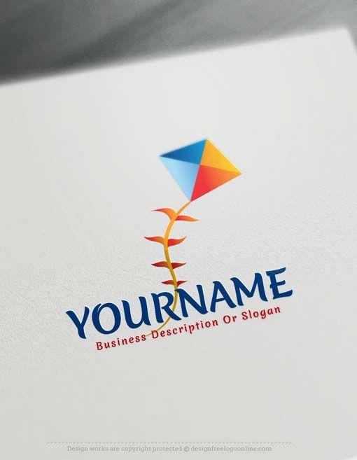 Free Logo Maker - Online Colorful Kite logo design | Design