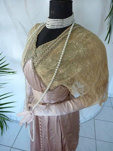 1912 Titanic Ära Abendkleid Edwardian antiken Kleid ca. | 1911 ...