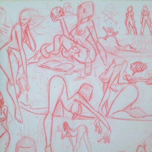Pieles arqueadas #sketch