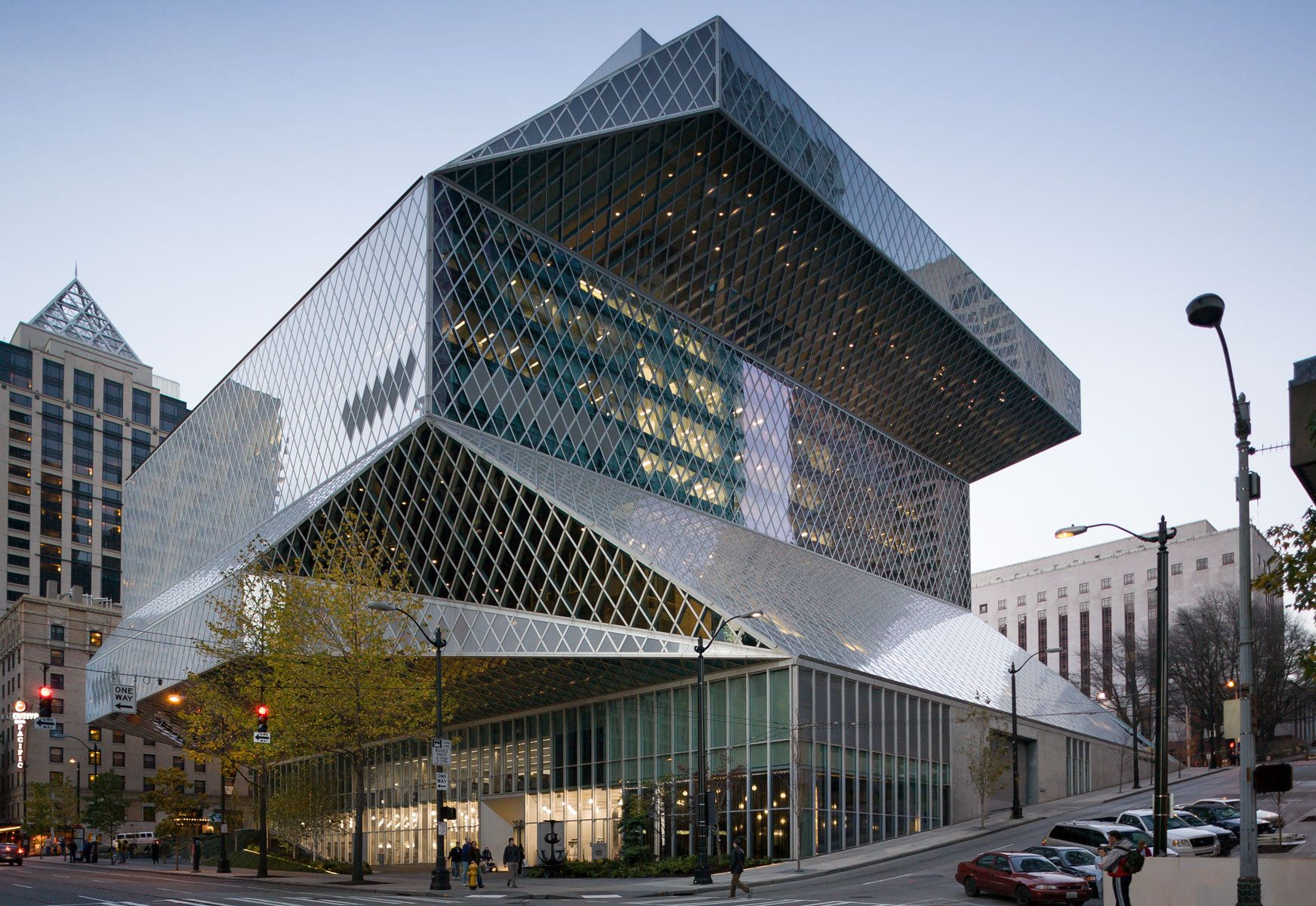 The seattle public library rem koolhaas and joshua prince for Biblioteca arquitectura
