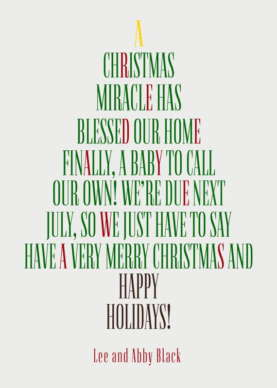 Set of 20 Christmas Pregnancy Announcement by EverburgPhotography – Baby Announcement Poem