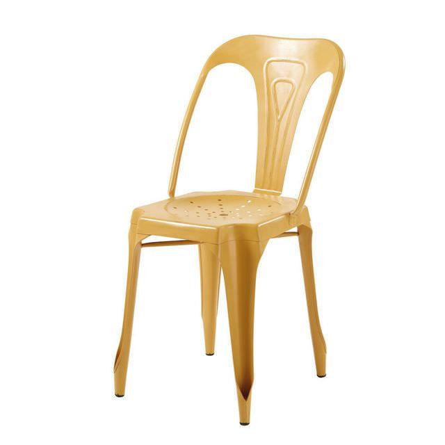 Sedia stile industriale giallo senape in metallo Multipl's ...