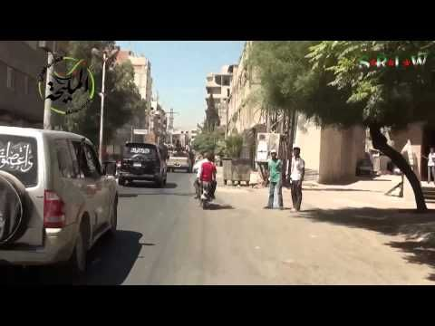 Siria, Damasco Suburbios: Observadores internacionales visitan Al Mulaih...