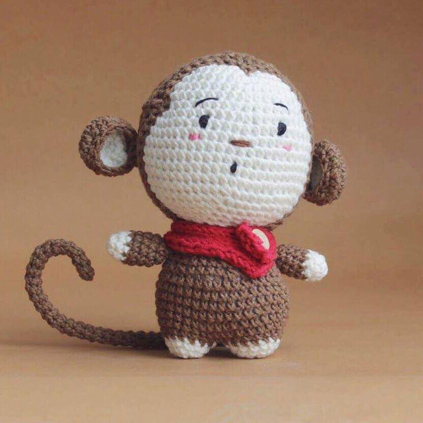 Monkey amigurumi free pattern - Vietnamese | Amigurumi | Pinterest ...