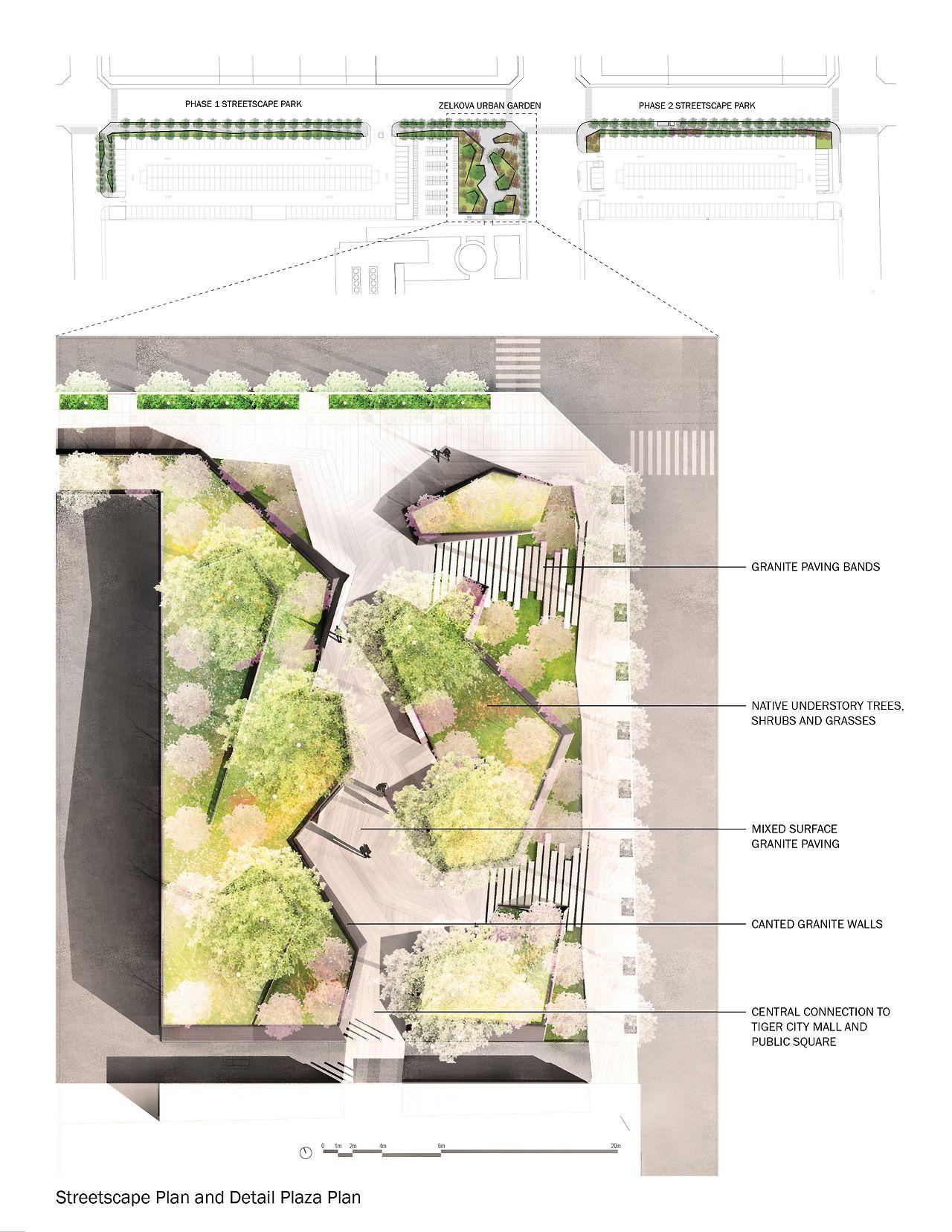 Zelkova Urban Garden and Streetscape Park | Landscape by Design ...