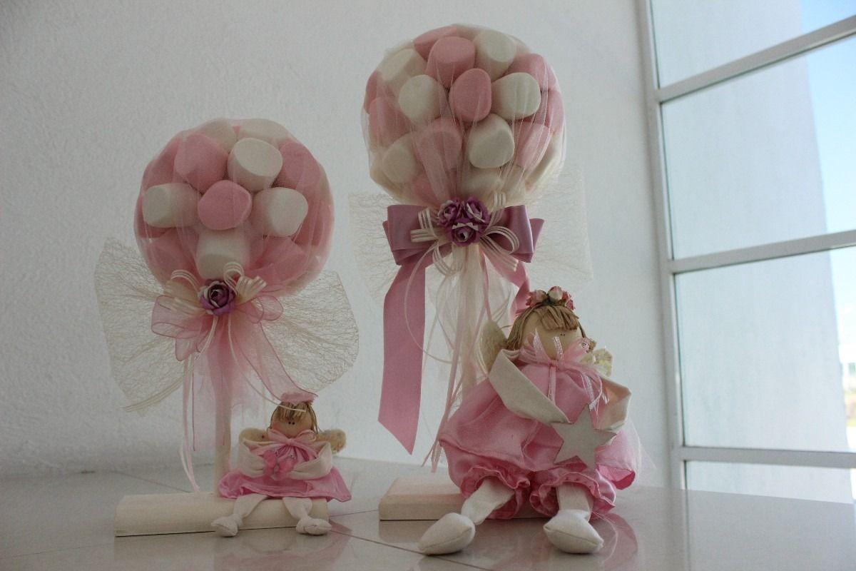 Adornos Para Mesa De Regalos De Baby Shower.Centro De Mesa Para Baby Shower De Nina Mesa De Bautizo