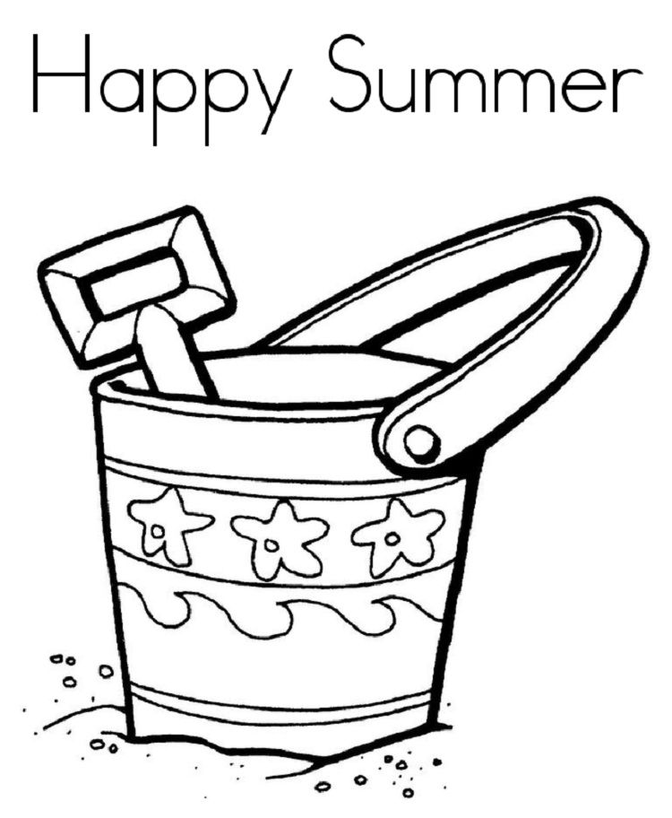 easy summer coloring pages  Cool coloring pages, Summer coloring
